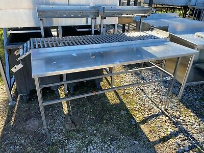 Heavy Duty 60 X 32 Commercial Stainless Steel Meat Department 13.5 Conveyor