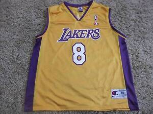 KOBE BRYANT L.A. LAKERS JERSEY #8 CHAMPION AUTHENTIC SIZE 40 Dee Why Manly Area Preview