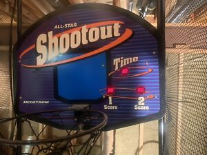 All-star shootout electric indoor basketball net