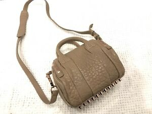 Mint- Alexander Wang Mini Rockie Bag in Latte w/ Rosegold hw