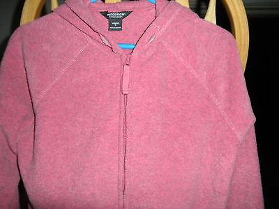 Ladies Woolrich Winter Warm Polar Fleece HOODIE Hood Sweatshirt Zipper Front  S