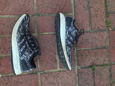 Adidas Pure Boost White & Black Size mens 9.5 Athletic running shoes