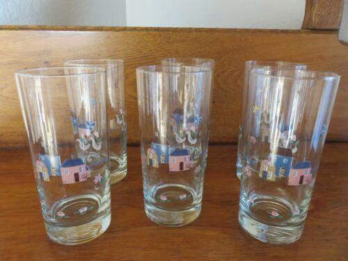 Vintage International Heartland Drinking Glasses 12oz Set Of 6