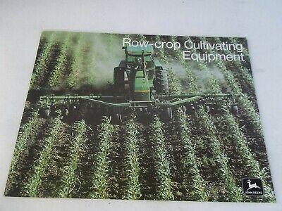 John Deere Row Crop Cultivating Equip. Brochure Models Rm6 Rm8 Rm4v Fm4 Fm6 Fm8