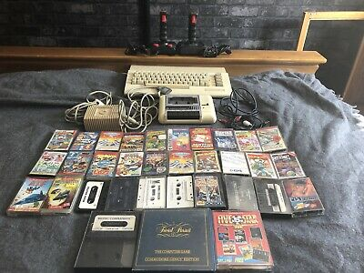 Vintage Commodore 64 Computer, With 2 Joysticks And 33 Games. Fully Working