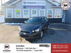 2014 Chevrolet Sonic LT Auto REMOTE START! BT! HEATED SEATS!...