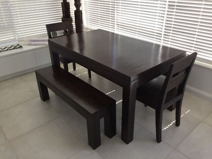 Solid Wood Shack Table Benches And Chairs