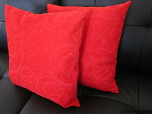 2X New Quality Red Flora Cushion Cover 45cm Padbury Joondalup Area Preview