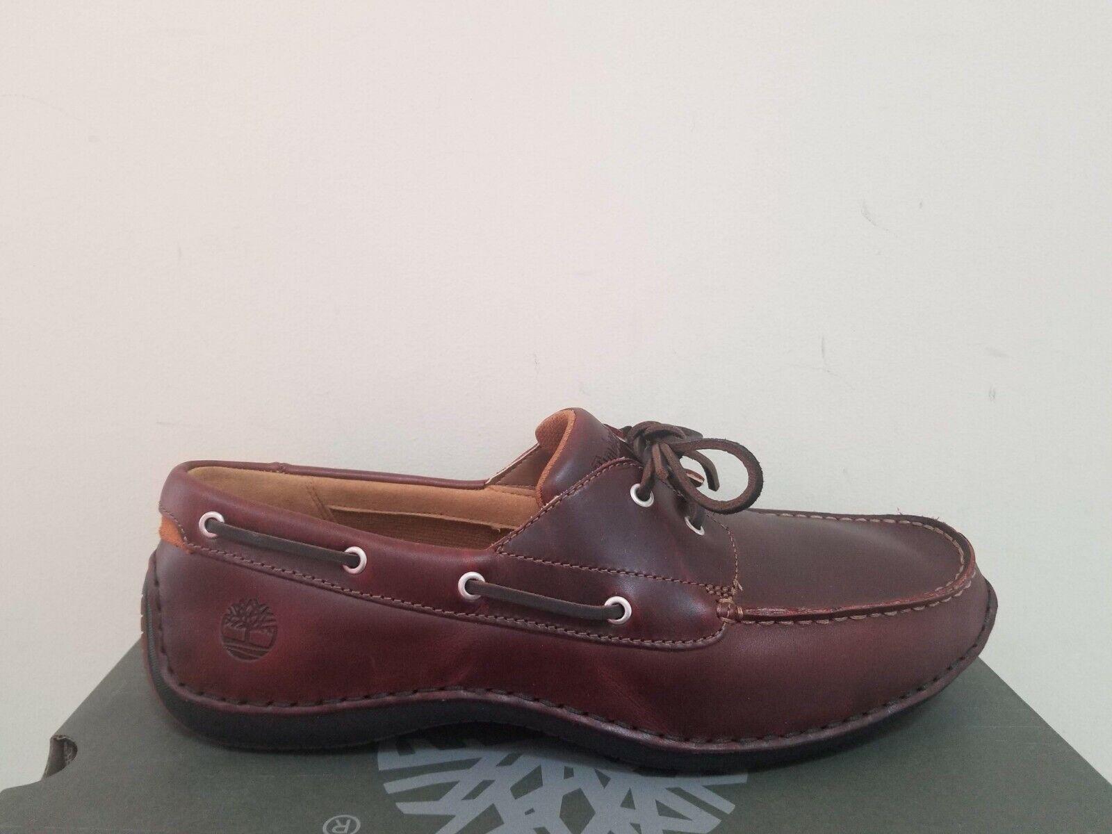 Timberland Men's  Annapolis 2-eye Moc Toe Boat Shoes NIB