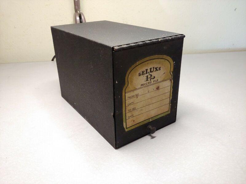 Vintage Deluxe RX Drug Record File Metal Box