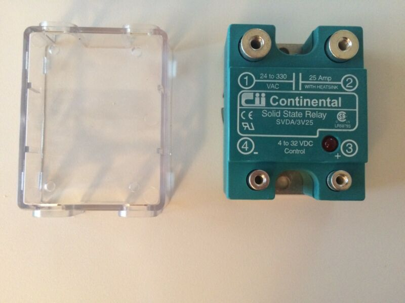 Continental Industries Solid State Relay SVDA/3V25, Includes Touch Free Cover