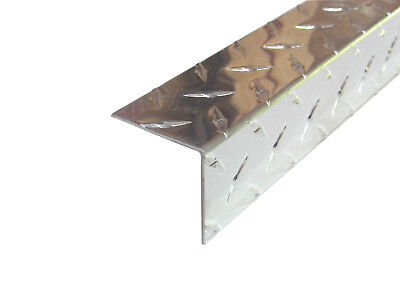 Aluminum Diamond Plate Angle .062 X 2 X 2 X 48 In. Offset Uaac