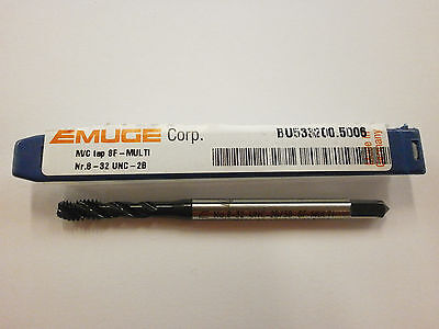 Emuge 8-32 Spiral Flute Multi-tap 2b3b High Performance Germany Bu5332005006