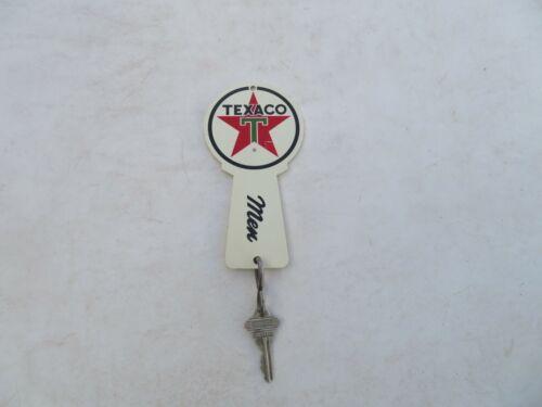Vintage Texaco Sign Plastic Gas Oil Men Restroom Key Fob