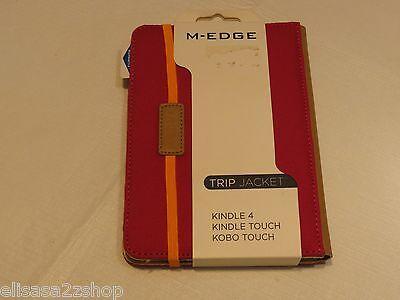 M-edge déclenchement veste amazon kindle 4 touch kobo housse rose ak4-tr1-c-pk
