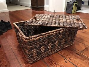 Pottery Barn Cane baskets set of 3 baskets. Waverley Eastern Suburbs Preview
