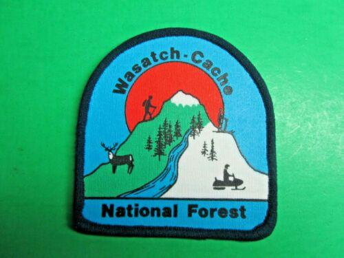 VTG WASATCH-CACHE NATL FOREST UTAH IDAHO ELK HIKER SNOWMOBILE SKIER PATCH (P114)