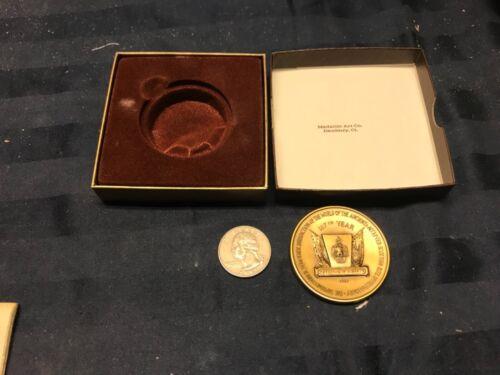 1787-1987 BICENTENNIAL MASONIC COIN Medallic Art Co. Letter + Book