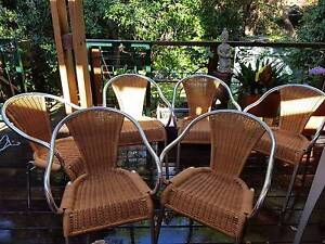 6 x Indecasa brand stainless steel and wicker chairs Waverley Eastern Suburbs Preview