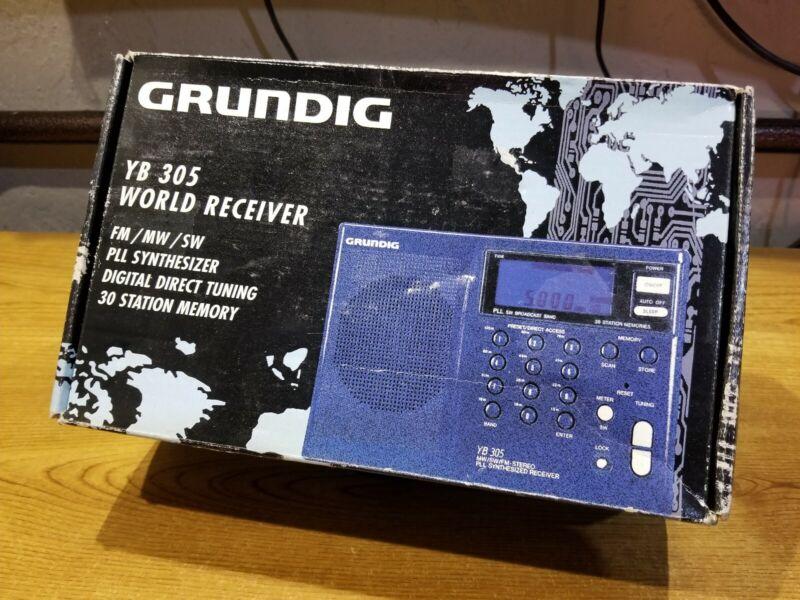GRUNDIG YACHT BOY 305, YB 305, AM / FM / SHORTWAVE RADIO