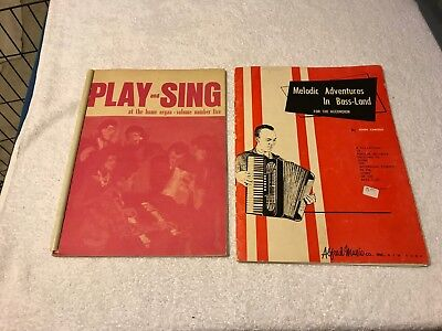 lot of 2 misc Music Books ACCORDION & ORGAN by John Caruso & Lorenz / Alfred