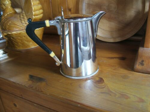 ANTIQUE SILVER PLATED CREAM OR MILK JUG..  1 PINT..   UNITY A1 PLATE..
