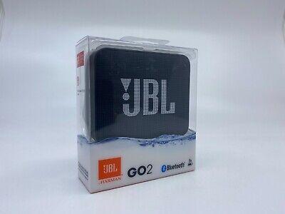 New/Sealed Harman JBL GO 2 Bluetooth Waterproof Portable Speaker Black FreeShip