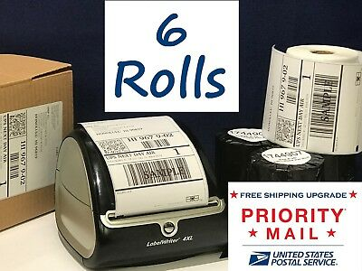 Dymo Shipping Labels 6 Rolls 1744907 Compatible For 4xl Thermal Printer 220roll