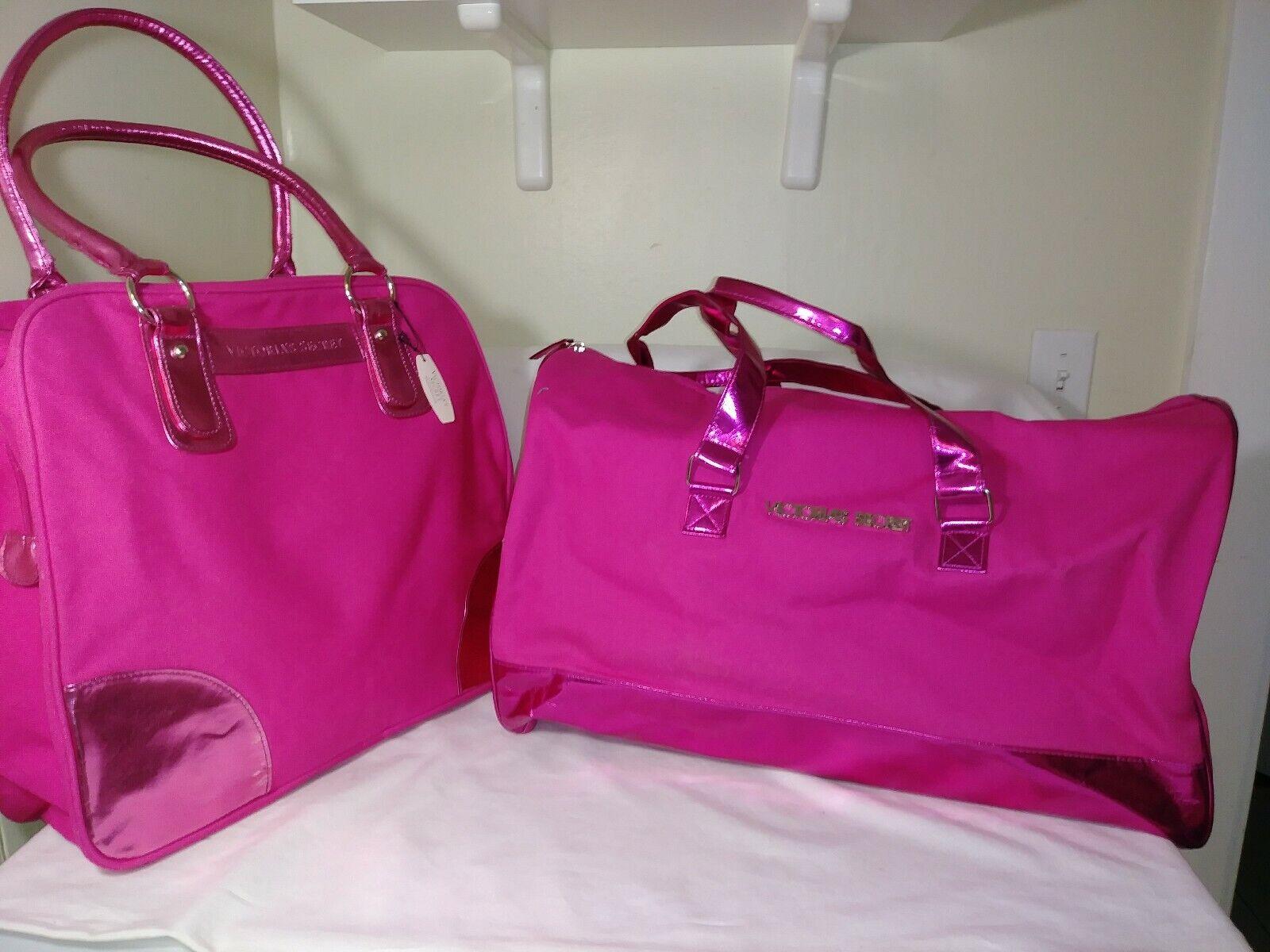 NWT Victorias Secret Large Duffle Bag & Tote, 2pc Luggage Se