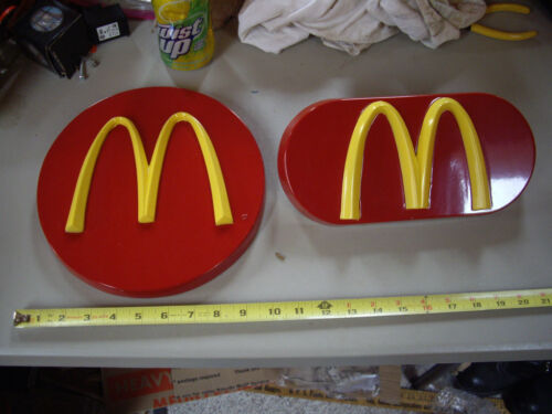 VINTAGE MCDONALDS SETMAKERS WOOD SIGNS FOR CAROUSEL DISPLAYS NICELY NOS