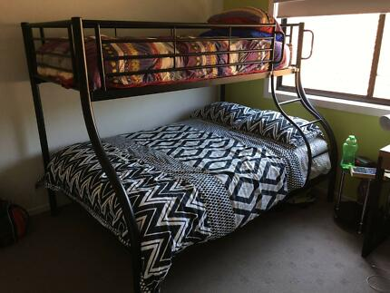 Double Bunk Bed (Black Steel Frame)