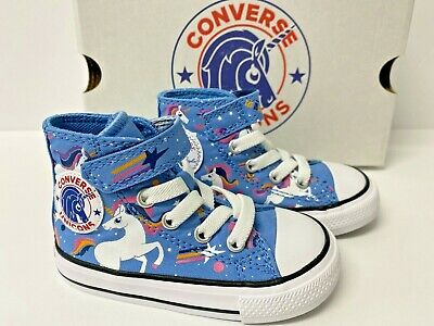 Toddler High Top Converse (Girls Converse All Star Chuck Taylor Toddler 4,5,6,7 Unicorn Sneakers High)