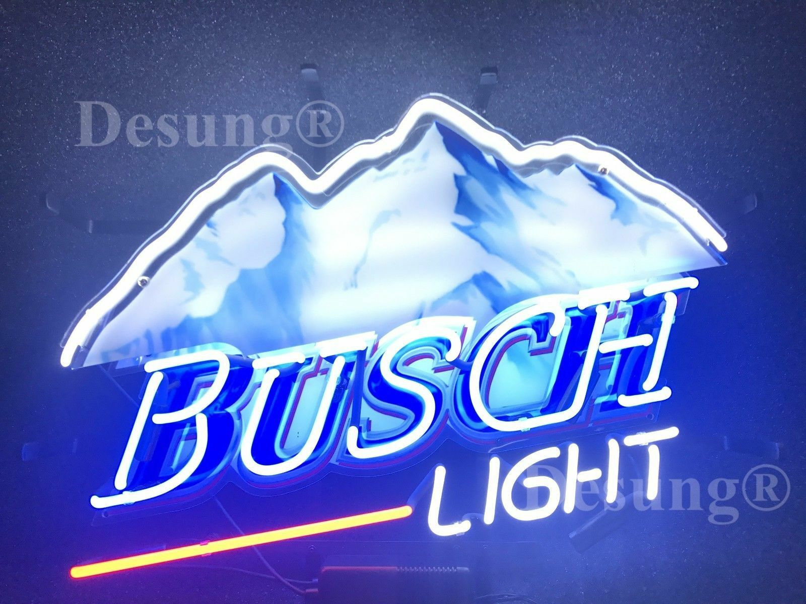 "Busch Light Mountain Beer Neon Sign 19""x15"" HD Vivid Printin"