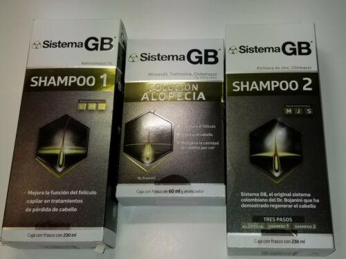 Set 3 Sistema GB Hair Loss Shampoo Growth Shampoo #1 #2  + A