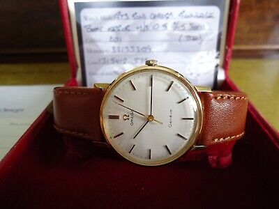 Omega Geneve 9ct Gold Wristwatch 1972
