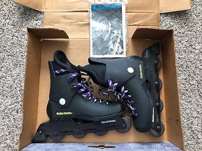 VIntage 90s Rollerblades Mondoblade Mens Size US 9 Grape Inline Skates NWB VTG
