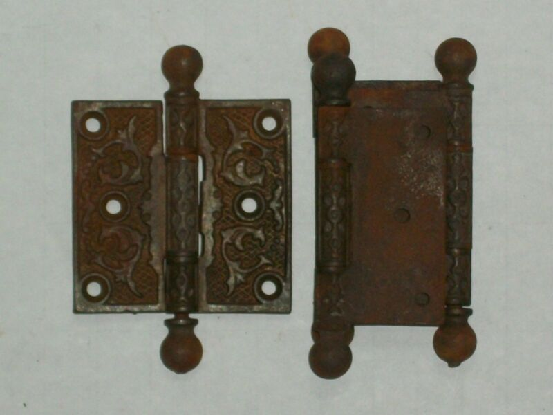 """Antique Eastlake Door Hinges 3"""" x 3"""""""