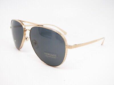 Authentic Versace VE 2217 1002/87 Gold w/Grey VE2217 Sunglasses