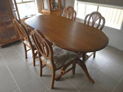 Handmade Thai Wooden Dining Table + Chairs