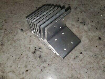 8 Units 3x3 Aluminum Angle Bracket Heavy Duty 0.25t 6061 10 Bore0.1875