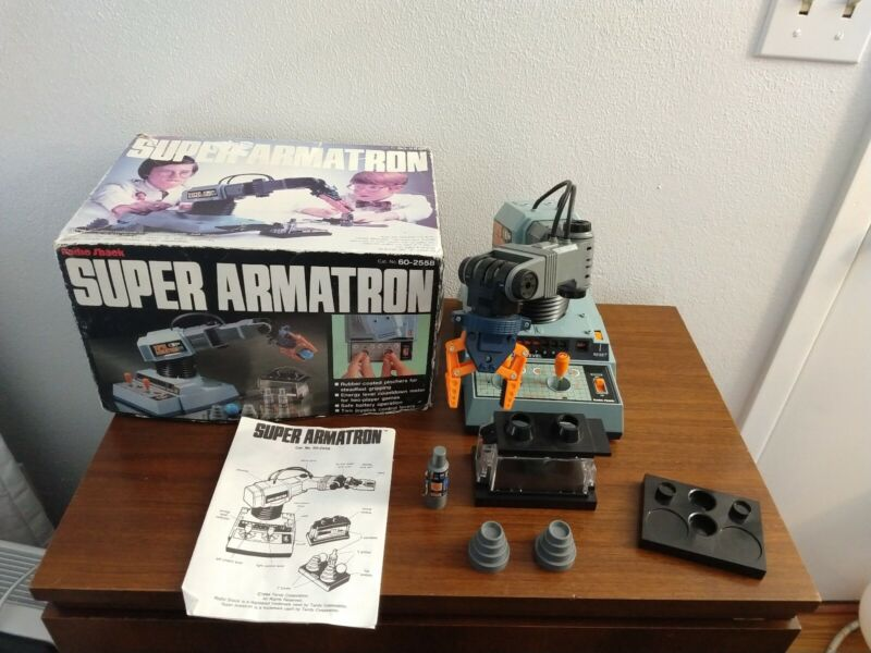 Radio Shack Super Armatron with Original Box Instructions Accessories
