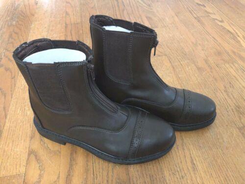 TuffRider Womens TuffRider mocha Front Zip Paddock Boots size 7 brown