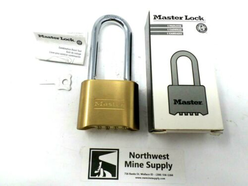 """Master Lock 175LH 2"""" x 2-1/4"""" Brass Padlock - Set Your Own Combination *NEW*"""