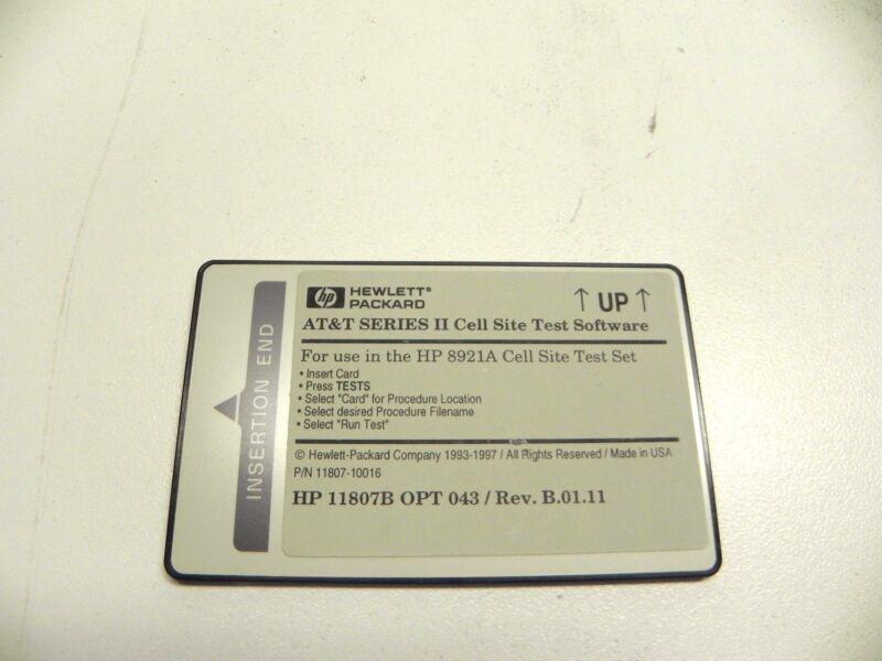 Agilent Hp Keysight 11807-10016 11807b-043 At&t Series Ii Tests, Rev. B.01.11