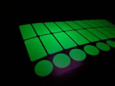 Luminescent Glow in the Dark Vinyl Light Switch Stickers x 30  (Glow In The Dark Lighting)