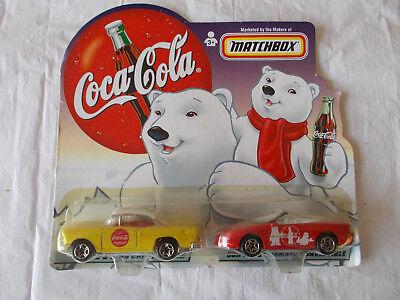 1999 Coca Cola-Matchbox-1/64 Diecast 1955 Chevy Bel Air & 1998 Chevy Camaro-WOW