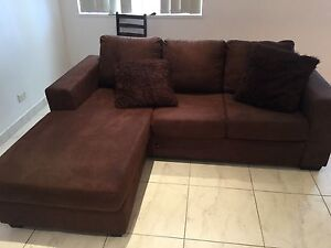 Brown 3 seater L lounge ! Revesby Bankstown Area Preview