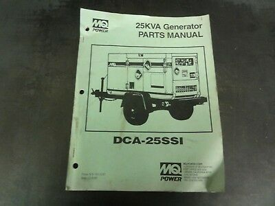 Multiquip Dca-25ssi 25kva Generator Parts Manuall