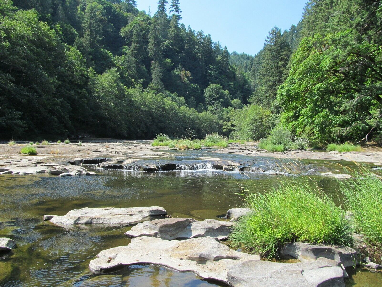 Oregon Placer Gold Mine on Smith River Mining Claim Creek Panning Sluice OR