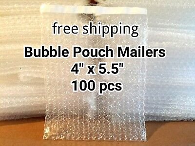 100x 4 X 5.5 Bubble Out Bags Pouches Self Seal Mailers Bags Wrap Clear